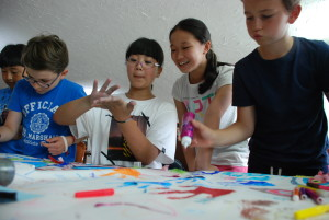 Blue Group; Camp Suisse Session 2 2016; Art Jamming