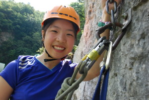 Green and Yellow Groups; Camp Suisse Session 1 2016; outdoor rock climbing