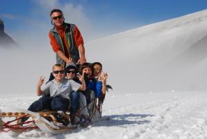 Camp Suisse Session 3 2016; Glacier 3000; Dog sledding