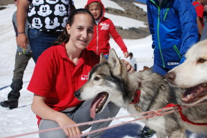 Session 4 2016; Glacier 3000; Husky dog sledding