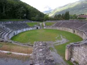 Roman ruins of Octodurus Camp Suisse
