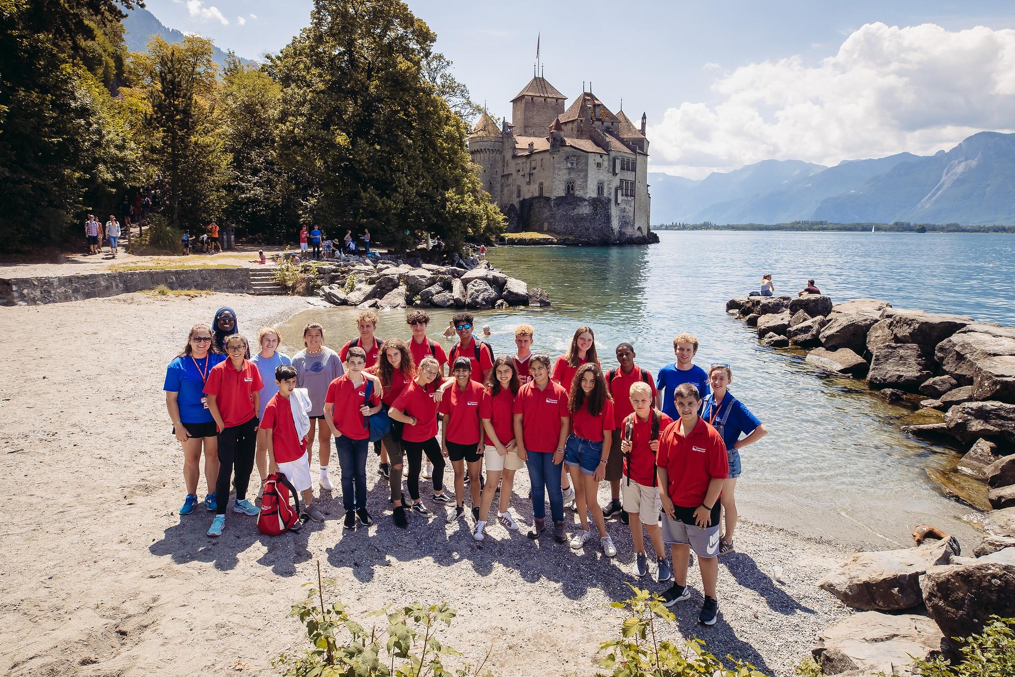Chateau de Chillon group photo