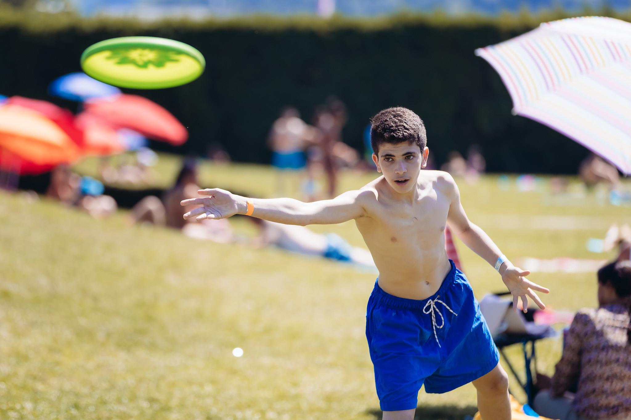 Frisbee at the lake!