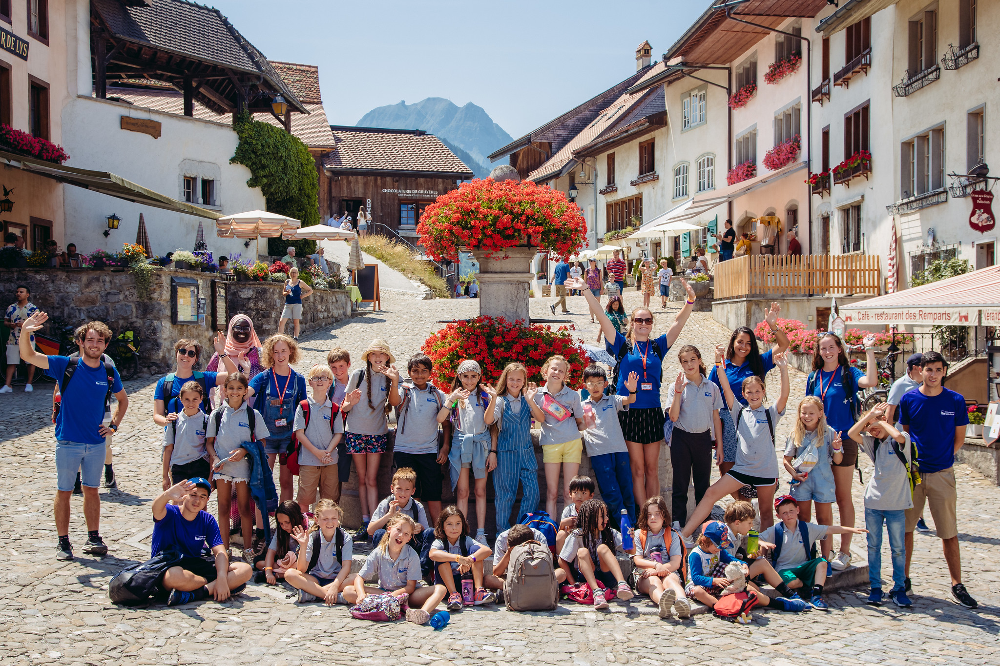 campers at Gruyere town